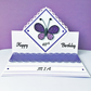 Birthday easel card - quilled butterfly - personalised