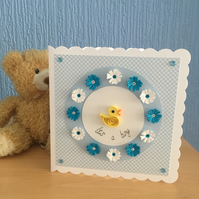 SALE 20% OFF Baby boy quilled card