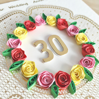 Wedding anniversary card  - personalised to ANY number