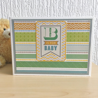 Baby boy photo album keepsake