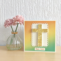 Easter card - quilled cross