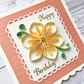 Birthday card - quilled flower - boxed card option