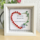 Wedding or Anniversary box frame - personalised gift - custom order