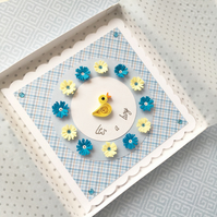 Baby boy card - personalised and boxed option