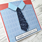Father's Day card - quilled tie and shirt