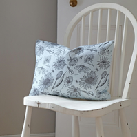 Palest Blue Cutting Garden Oblong Cushion