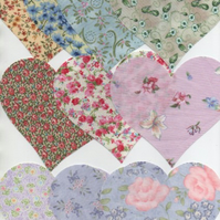 "ChrissieCraft 10 assorted 4.5"" die-cut quality cotton HEARTS for APPLIQUE"