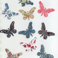 ChrissieCraft genuine LIBERTY TANA LAWN bondawebbed BUTTERFLIES for applique