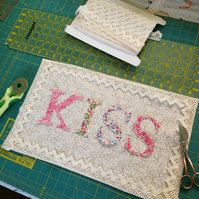 ChrissieCraft die-cut LIBERTY capital KISS lace trimmed KIT
