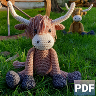 Ogden the Ox Crochet Pattern, Ox Amigurumi Pattern, Oxen