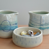 Seascape little pourer - Beautifully glazed in sea colours