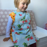 Special offer - reduced price!  Pretty strawberry apron for a little girl