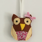 Hand made felt owl decoration