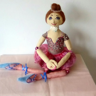 Beaded Ballet Dancer Doll, Handmade Doll, Collectable Doll