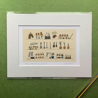 The potting shed - digital print with mount of garden shed