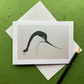 Avocet. Bird. Greetings card. Blank inside.