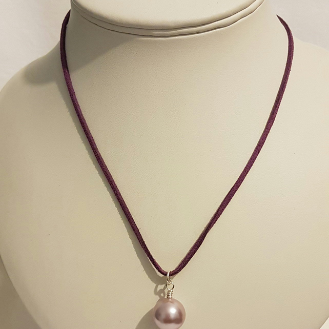 Silver Plated Shell Pearl Necklace