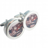 1954 MG TF cufflinks, beautiful car, highly polished , free UK shipping....