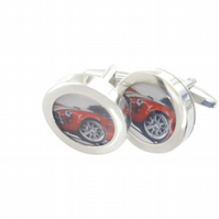 1962 Shelby Cobra cufflinks, American muscle car, free UK shipping...