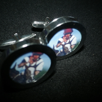 Classic Polo cufflinks, great iconic image, swivel action, free UK shipping