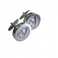 Warrior King cuff links, lovely detail and image, great special occasion present