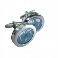 BBKing legendary blues musician cufflinks, great blues lover gift.
