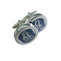 Clef and Guitar cufflinks, a combination of two of the most iconic emblems ....