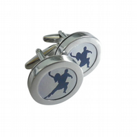 Blue Tango cufflinks, probably the most exuberant of all dance routines.....
