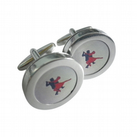 Red Tango cufflinks, probably the most exuberant of all dance routines.....