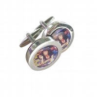 Pulp Fiction cufflinks, terrific all American Tarantino thriller movie......