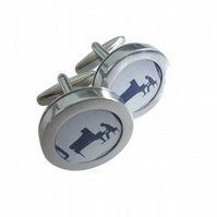The Pianist cufflinks, lovely grand piano, beautiful special occasion gift