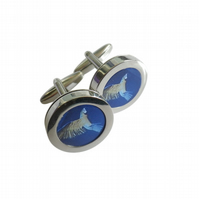Multicoloured hummingbird cufflinks, smallest in the World, great gift