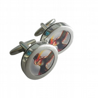 Bird of Prey cuff links, dramatic image, great present for that special person..
