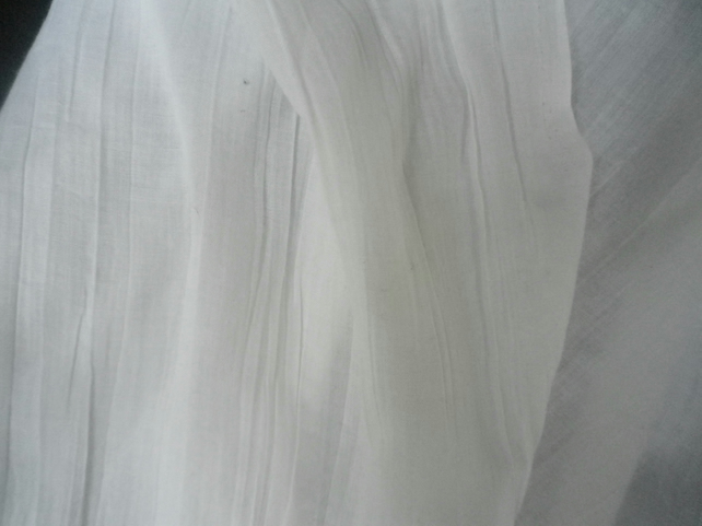 4m superfine lightweight pure white crincle weave viscose, wide range  projects