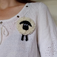 Sheep brooch, gift for her, sheep lovers gift,