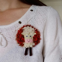 Hereford cow brooch