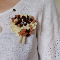 Jacob sheep brooch