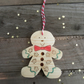 wooden gingerbread man christmas tree decoration