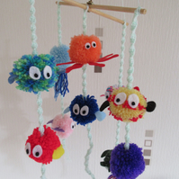 Under the sea pompom nursery mobile