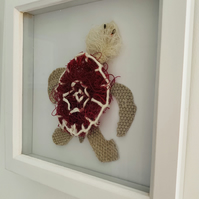 Framed Ghost Net Turtle