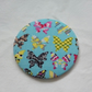 Butterfly Design Fabric Backed Pocket Mirror