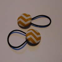 Gold Zig-Zag Design Hair Bobble Hair Bands