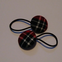 Tartan Design Hair Bobble Hair Bands