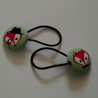 Detective Fox Design Hair Bobble Hair Bands