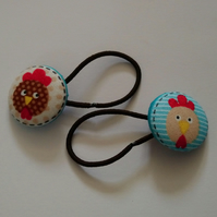 Chicken Design Hair Bobble Hair Bands