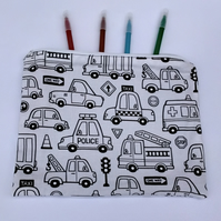 Colour in a Vehicle Pencil Case, Letterbox gift
