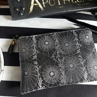 Gothic, halloween, spiderweb, alternative, vegan wallet.
