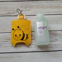 Bee Hand sanitizer holder keyring, hand gel case