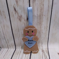 Son gingerbread decoration, son gingerbread fridge magnet