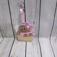 New born baby gifts, baby shower gifts, baby girl gingerbread